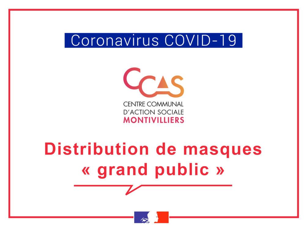 """[COVID-19] – CCAS : Distribution de masques """" grand public """""""
