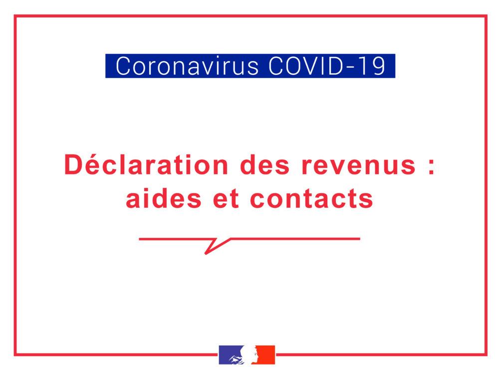 [COVID-19] – Déclaration des revenus : aides et contacts