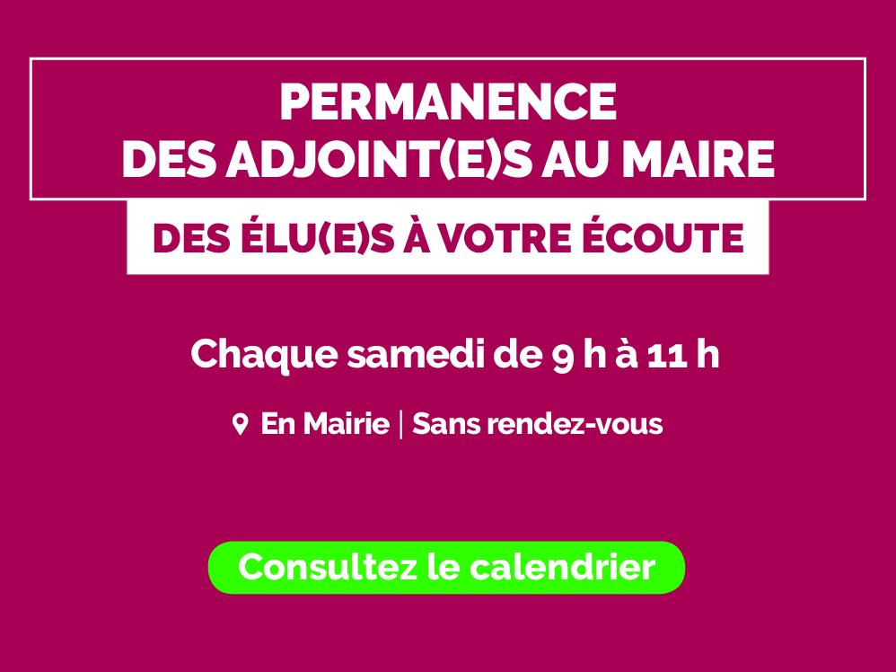 Permanence des Adjoint(e)s au Maire
