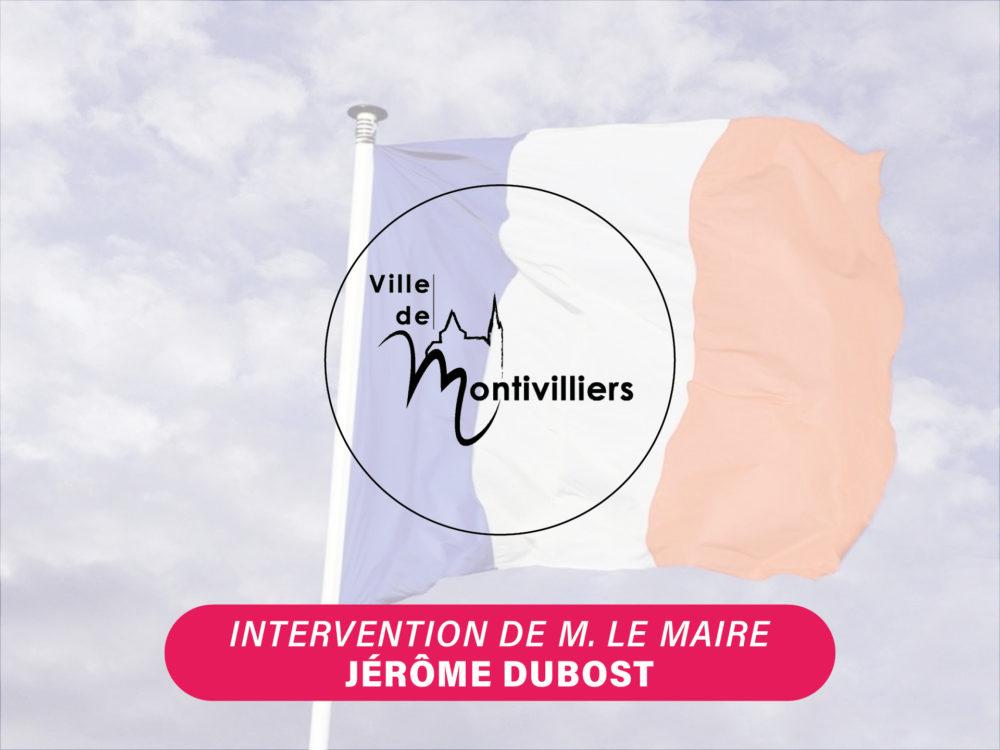 COVID-19 – Intervention de M. le Maire Jérôme DUBOST