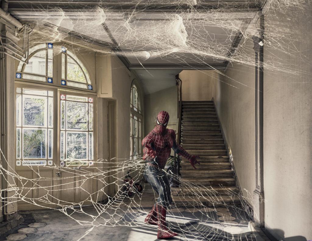« Spiderman » - Marie-Anne GRUNWEISER<br /> D'après le héros de comics « Spider-Man » créé par le scénariste Stan LEE et le dessinateur Steve DITKO
