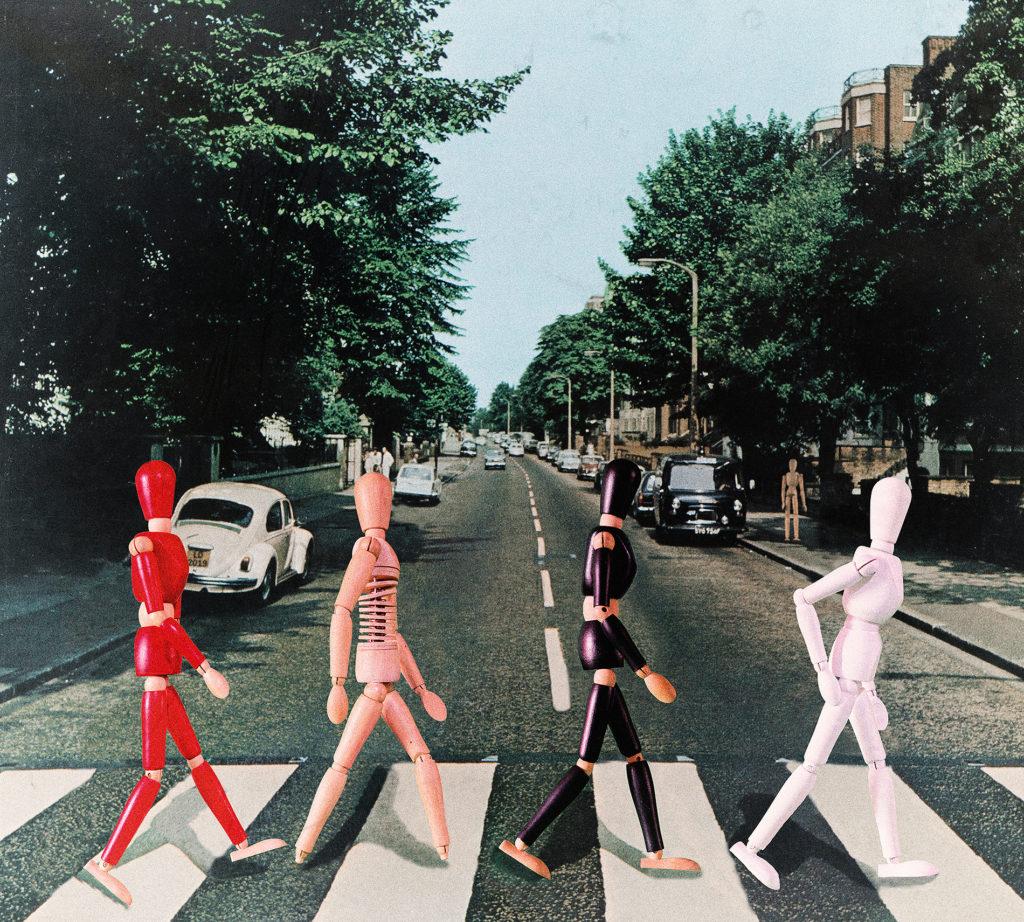 « Fab Four » - David LACAILLE<br /> D'après la pochette de l'album « Abbey Road » des Beatles, de Iain MAC MILLAN